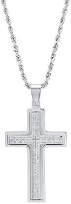 FINE JEWELRY Steeltime Mens Stainless Steel Pendant Necklace