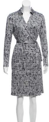 Brooks Brothers Long Sleeve Wrap Dress