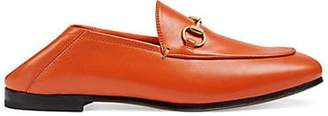 Gucci Women's Brixton Leather Loafers - Orange