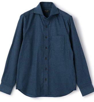 Men's Bigi (メンズ ビギ) - MEN'S BIGI ストレッチ 小紋柄 ジャガードシャツ メンズ ビギ シャツ/ブラウス