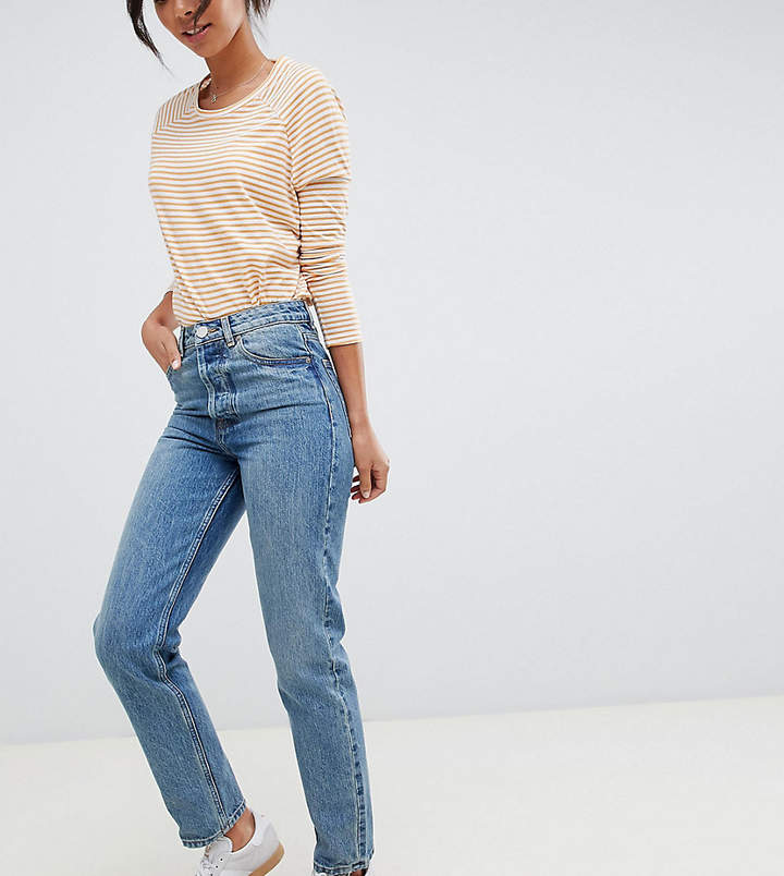 ASOS Tall ASOS DESIGN Tall Recycled Florence authentic straight leg jeans in light stonewash blue