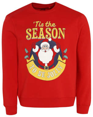 George Red Santa Slogan Christmas Sweatshirt