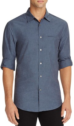 John Varvatos Collection Roll Sleeve Slim Fit Button-Down Shirt $228 thestylecure.com