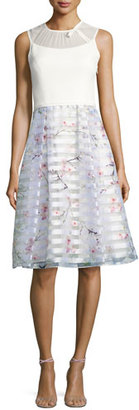 Ted Baker London Monah Oriental Blossom Bow Dress, Light Gray $429 thestylecure.com