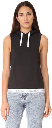 Calvin Klein Underwear Modern Cotton Sleeveless Hoodie $79 thestylecure.com