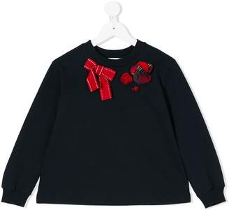 Dolce & Gabbana bow embroidered sweater