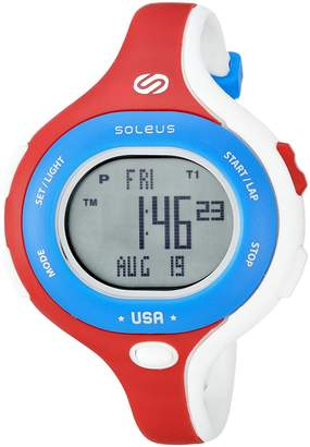 Soleus Chicked Women's 'Signature Series' Quartz Plastic Running Watch, Color:White (Model: SR009-665)