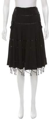 Christian Dior Embellished Knee-Length Skirt