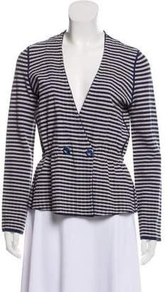Armani Collezioni Striped Double-Breasted Cardigan w/ Tags
