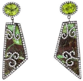 Colette Jewelry Gaspeite And Peridot Earrings