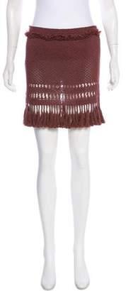Isabel Marant Open-Knit Mini Skirt