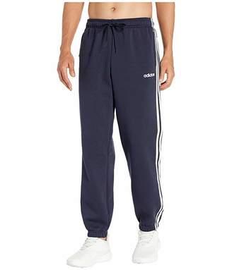 adidas Essentials 3-Stripes Fleece Open Hem Pants