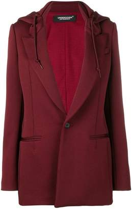 Undercover hooded blazer