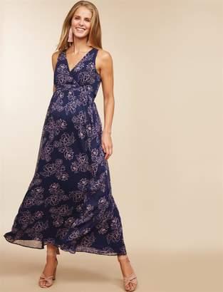 86a609127c1 Motherhood Maternity Chiffon Maternity Maxi Dress