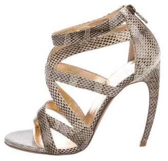 Walter Steiger Snakeskin Multi-Strap Sandals