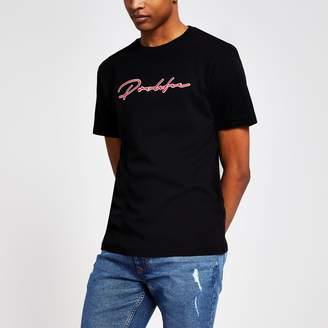 River Island Mens Black 'Prolific' embroidered slim fit T-shirt