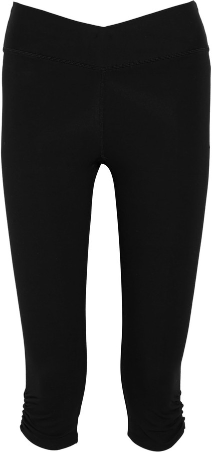 Yummie by Heather Thomson Candace cropped stretch cotton-blend leggings