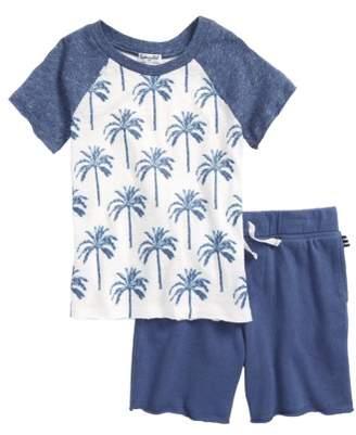 Splendid Palm Tree T-Shirt & Shorts Set