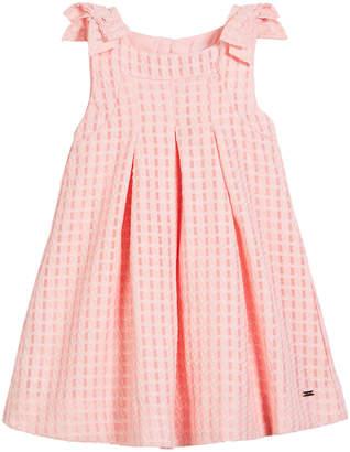 Mayoral Windowpane Box-Pleat Dress, Size 12-36 Months