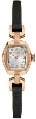 Bulova Classic Womens Tonneau Dark Brown Leather Strap Watch 97L154 $149.25 thestylecure.com
