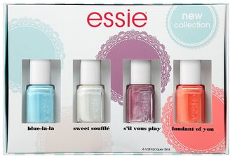 Essie 4-pc. Summer Trend 2017 Mini Nail Polish Kit $18 thestylecure.com