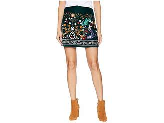 Romeo & Juliet Couture Multicolor Embroidered Mini Skirt Women's Skirt