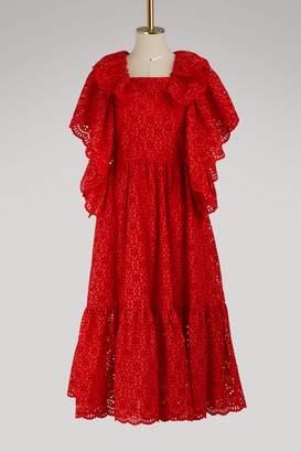 MSGM Lace midi dress