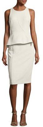 Black Halo Kiara Sleeveless Ponte Peplum Dress, Stratus $345 thestylecure.com