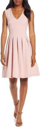 Harper Rose Sleeveless Crepe Fit & Flare Dress