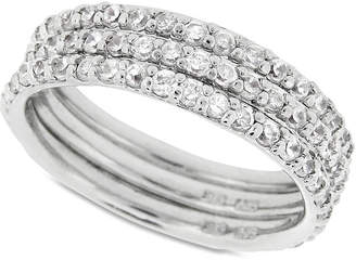 Giani Bernini Cubic Zirconia Stackable Ring Set in Sterling Silver (2-1/5 ct. t.w.)