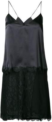 Pinko lace hem high low cami dress