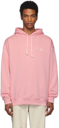 Acne Studios Pink Oversized Farrin Face Hoodie