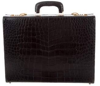 Saks Fifth Avenue Crocodile Business Briefcase
