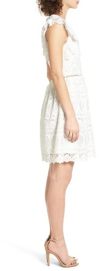 Women's J.o.a. Lace Fit & Flare Dress 4
