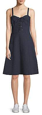 Polo Ralph Lauren Women's Linen Lace-Up Dress