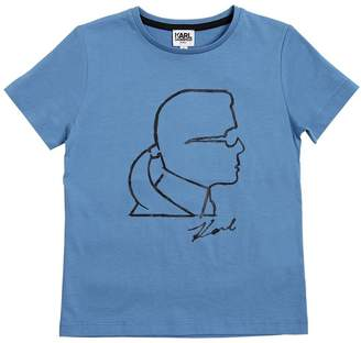Karl Lagerfeld Print Cotton Jersey T-Shirt