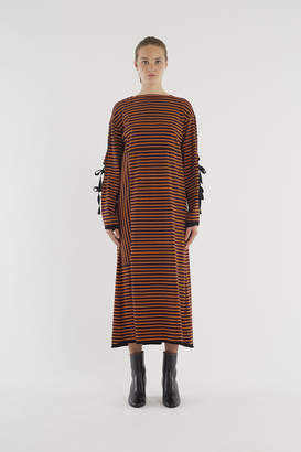 3.1 Phillip Lim Side-Tie Long-Sleeve Dress