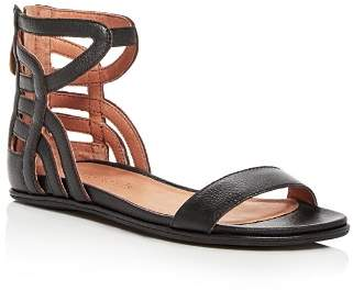 Kenneth Cole Gentle Souls by Gentle Souls Women's Larisa Leather Ankle Strap Demi Wedge Sandals