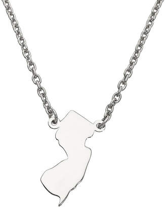 FINE JEWELRY Personalized Sterling Silver New Jersey Pendant Necklace