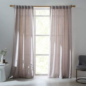 west elm Imperial Shine Textured Curtain - Chateau Gray