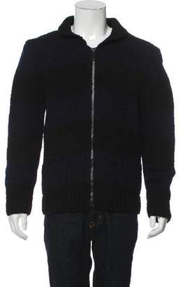 Band Of Outsiders Mock Neck Zip-Up Sweater