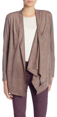 KUT from the Kloth Sansa 3-Way Wear Faux Suede Drape Jacket