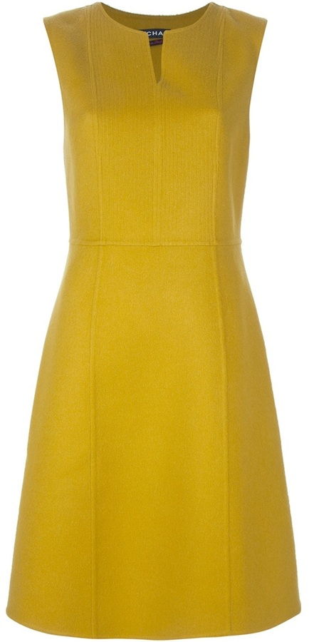 Rochas slit sleeveless dress