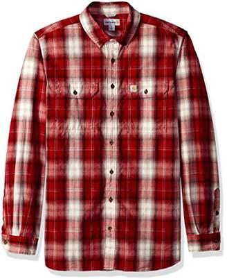 Carhartt Men's Big and Tall Fort Plaid Long Sleeve Shirt