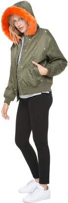 Juicy Couture Faux Fur Hood Studded Jacket