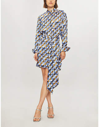 Mary Katrantzou Sonia satin shirt dress