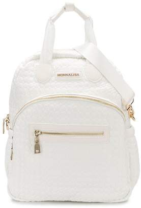 MonnaLisa quilted logo backpack
