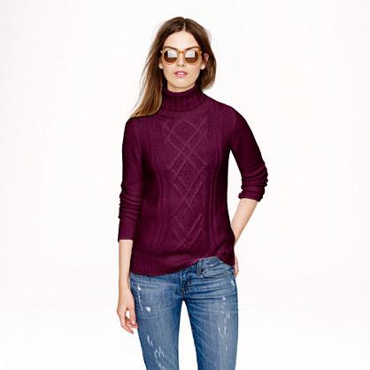 Cambridge Silversmiths cable turtleneck sweater