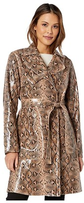 Blank NYC Faux Snakeskin Trench Coat in Anaconduh