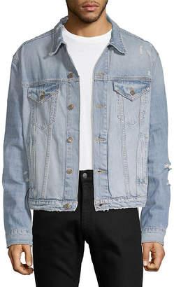 Marvin Dtla Brand Jeans Distressed Denim Jacket